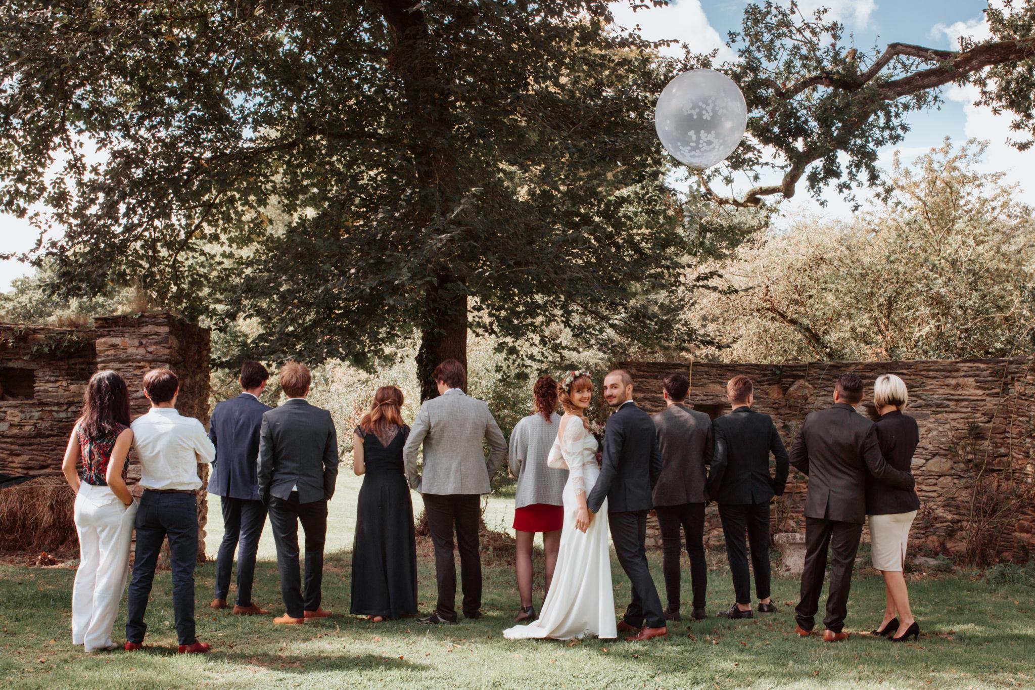 Témoins chêne Couple ballon Manoir de la Fresnaye