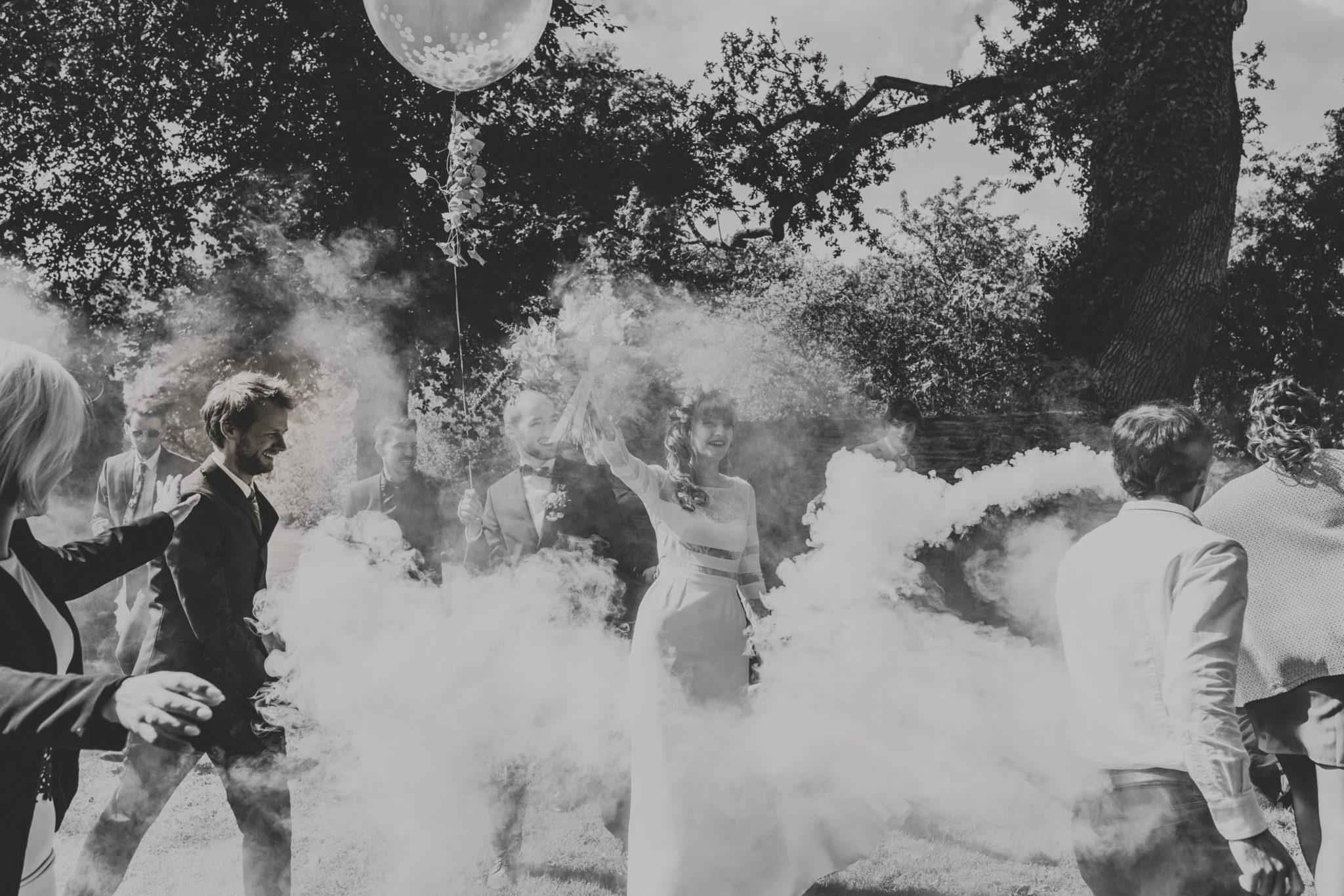 Témoins chêne ballon fumigène Manoir de la Fresnaye