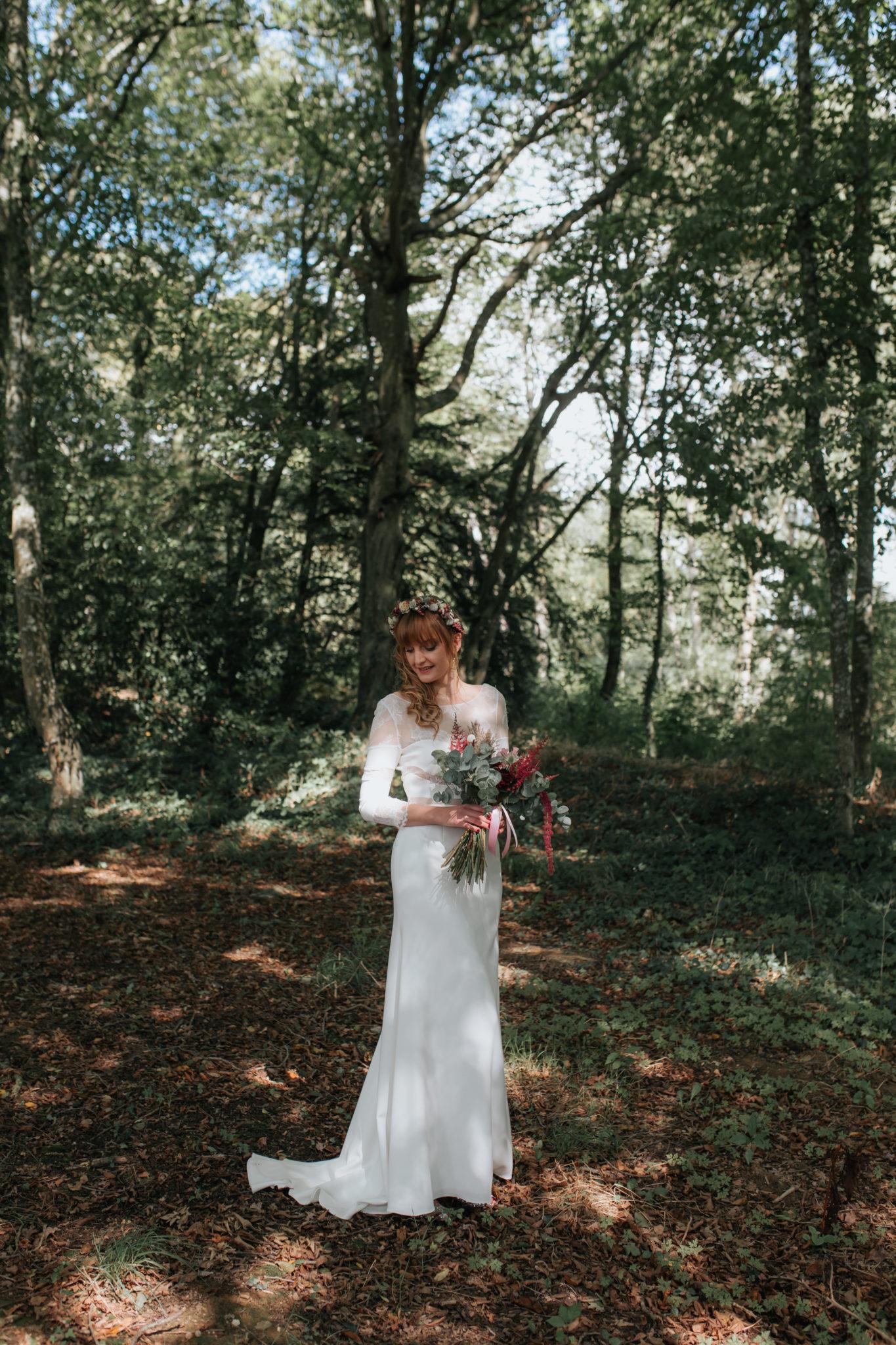 Mariée robe Rime Arodaky parc Manoir de la Fresnaye