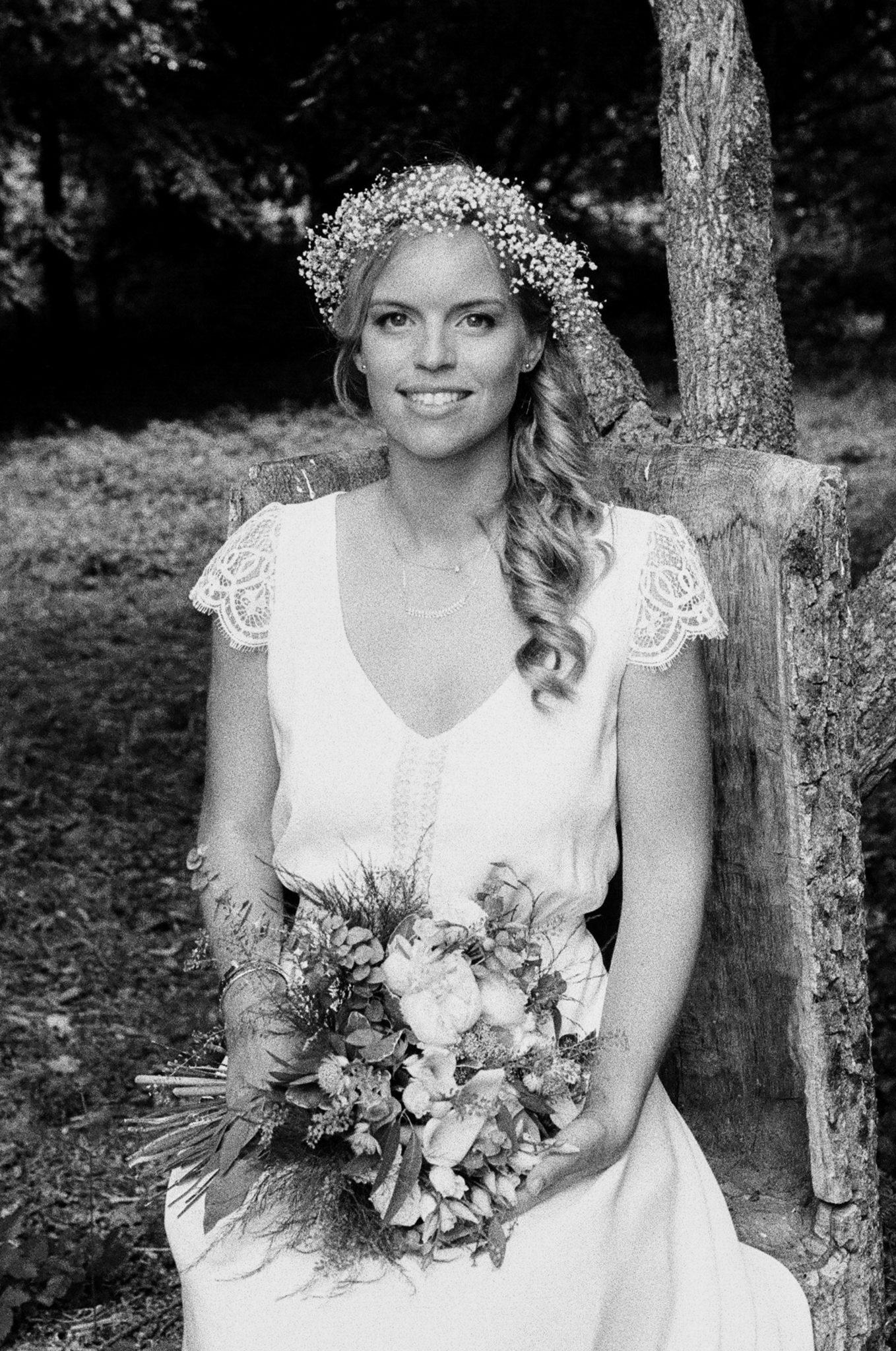 Portrait mariée robe Lambert Créations Domaine Laumondiere Bagnoles de l'Orne