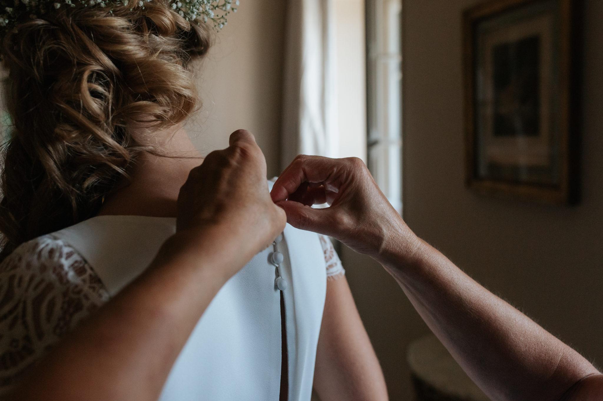 Préparatifs mariée Domaine Laumondiere Bagnoles de l'Orne