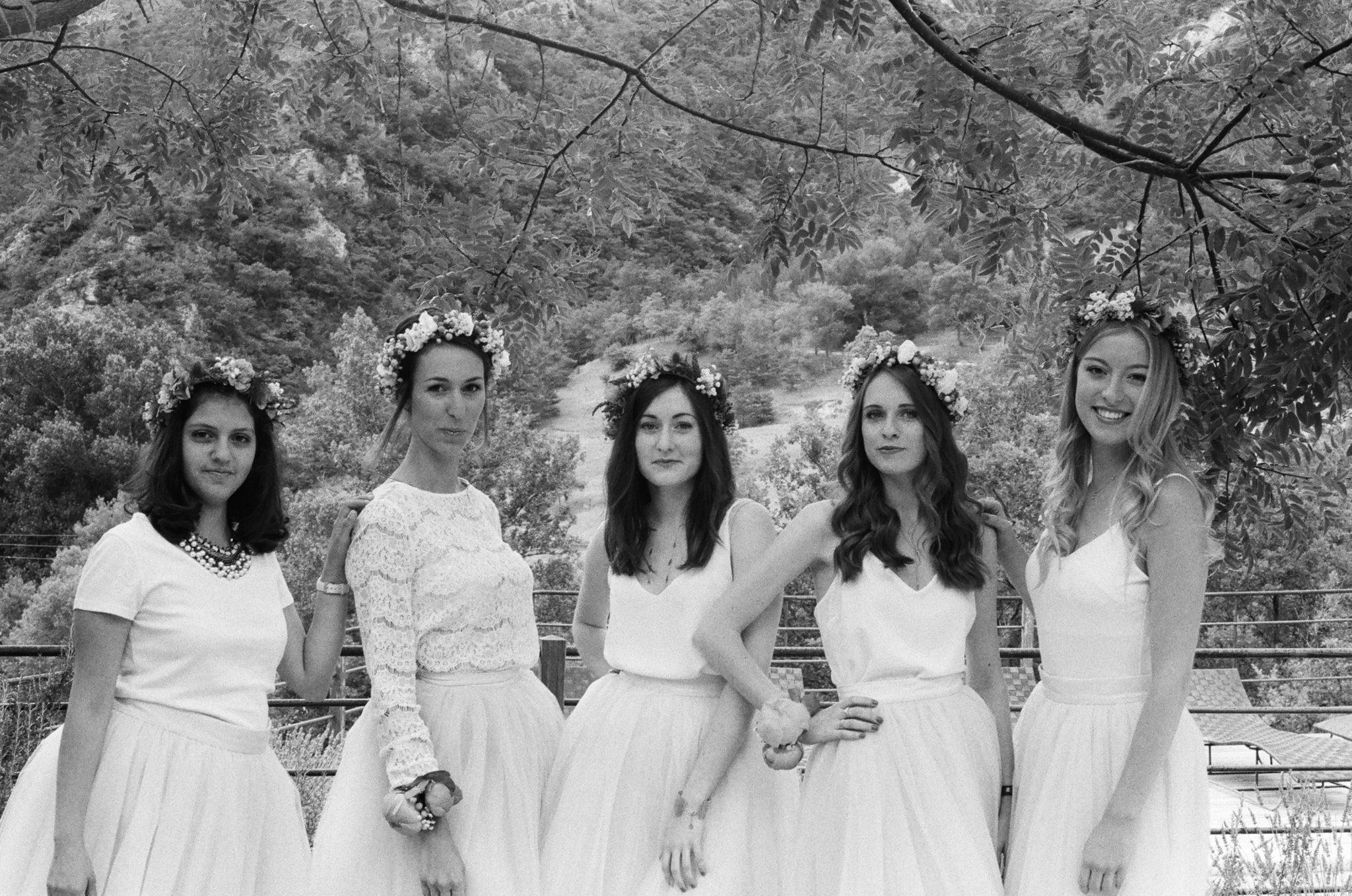 Bridesmaids Hameau Valouse Drome Provencale