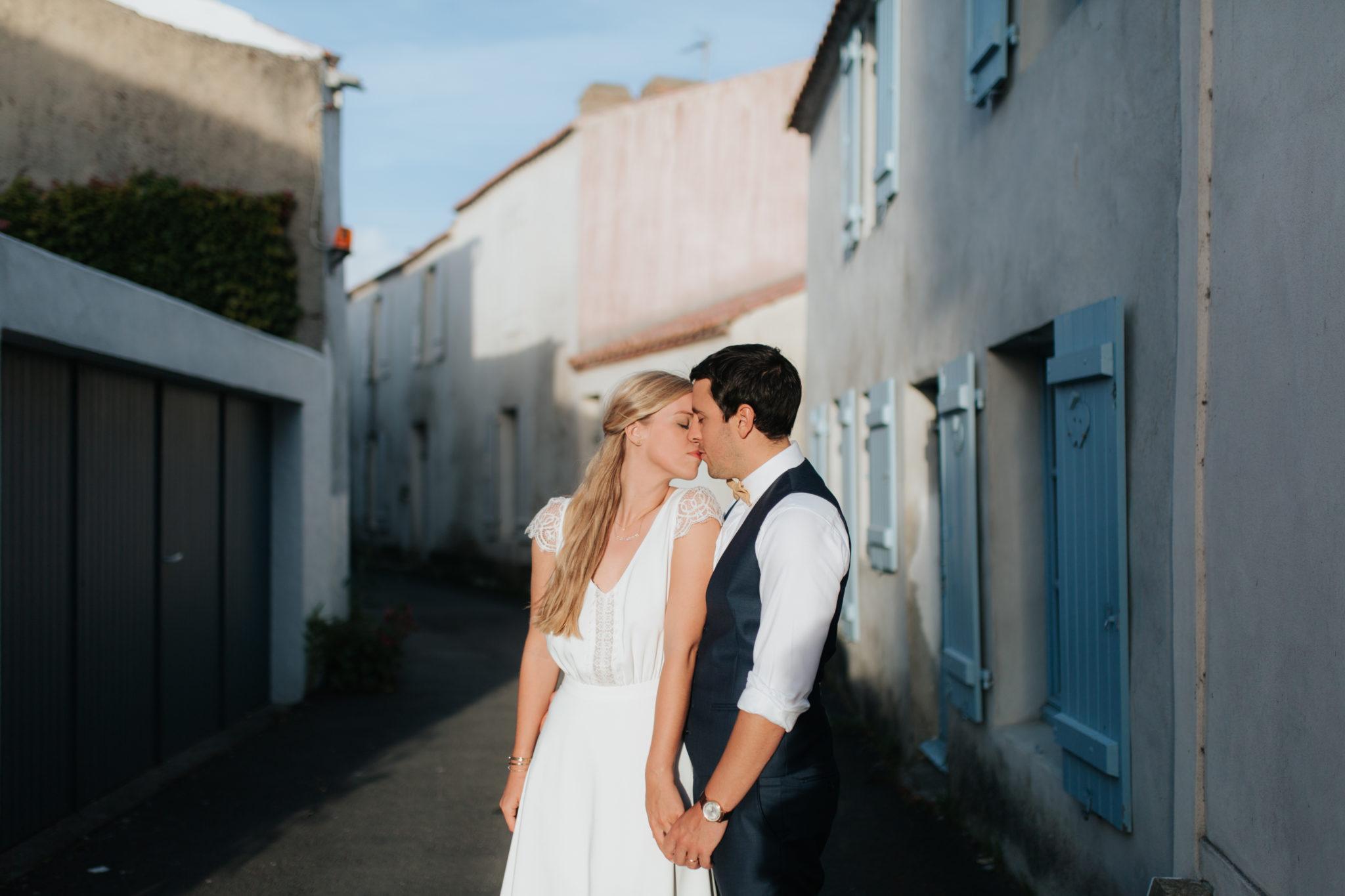 Portrait mariés Noirmoutier
