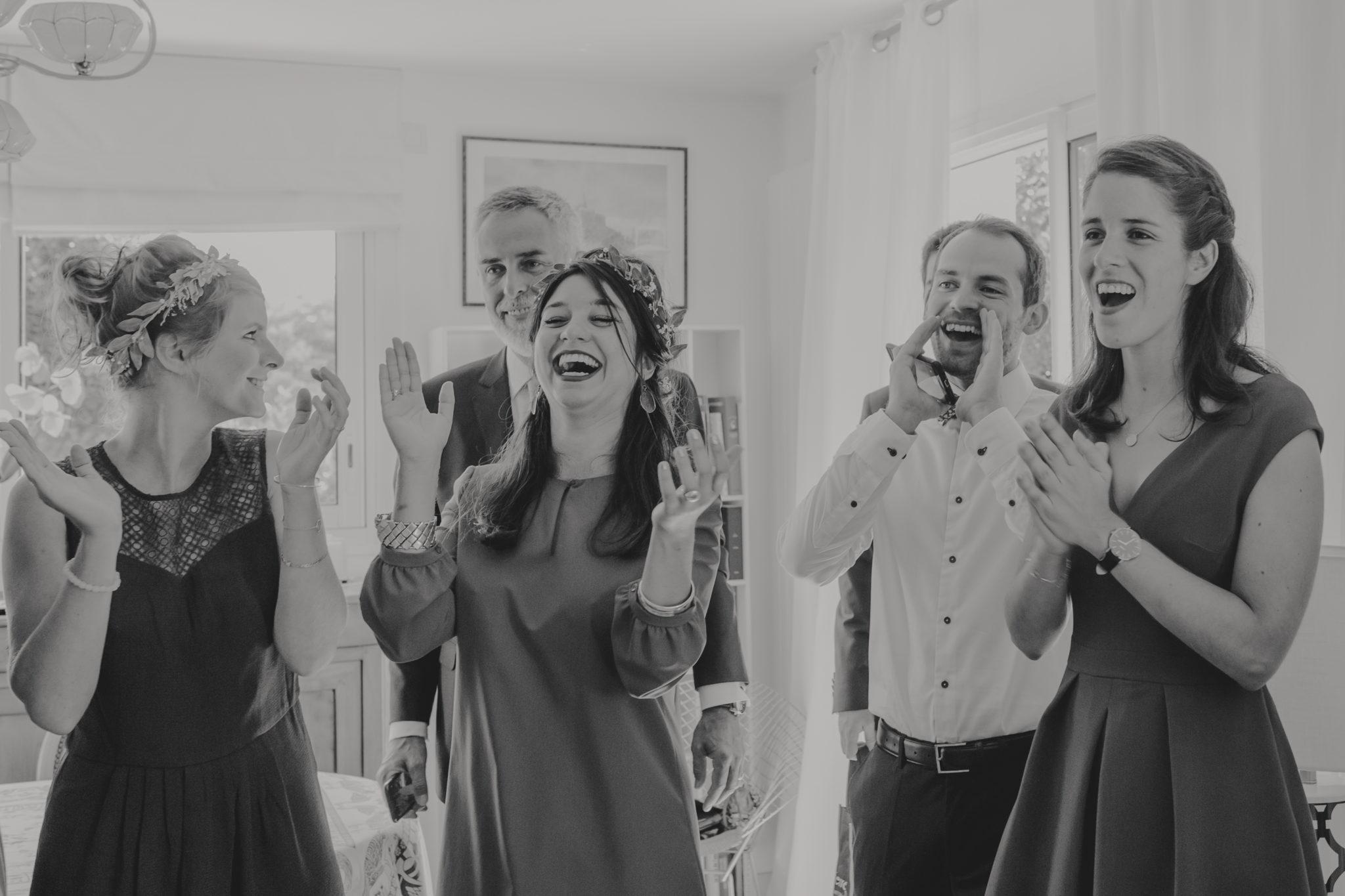 Préparatifs mariée témoins bridesmaids Deauville