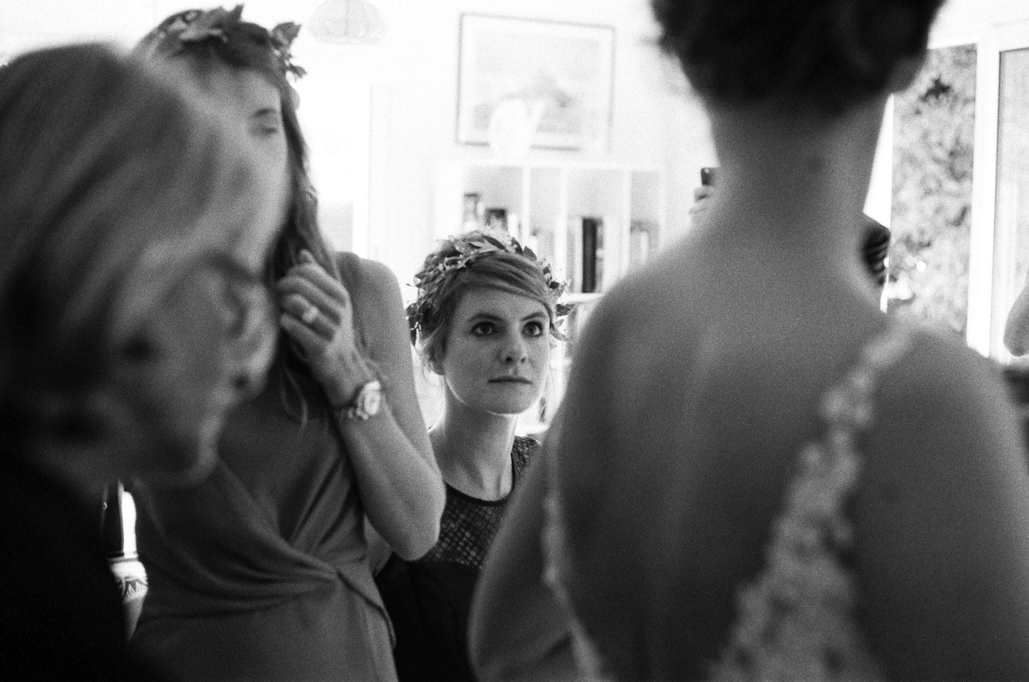 Habillage mariée mère témoins bridesmaids robe David Purves Deauville