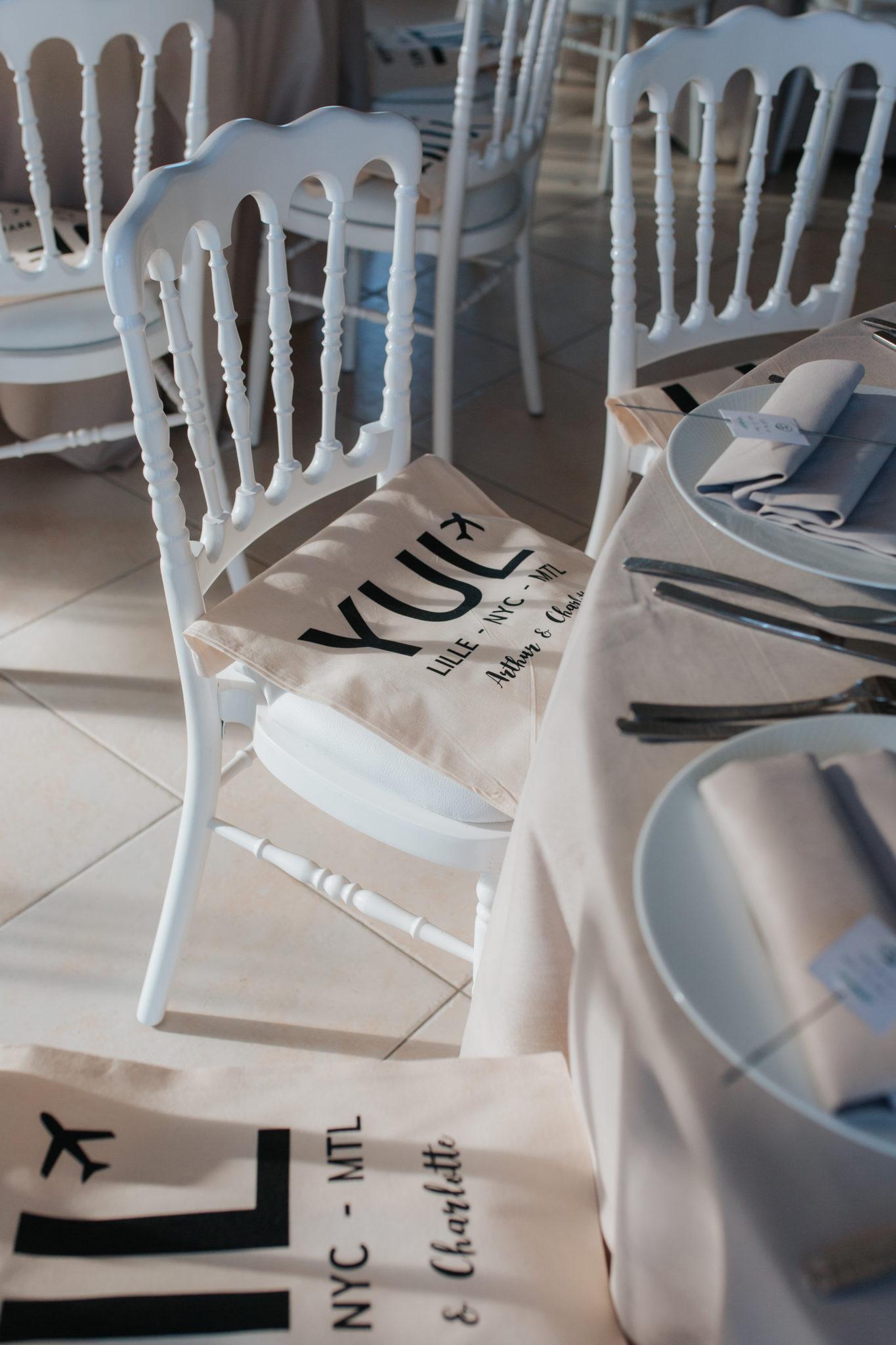 Tot bag sac toile aéroport cadeau invités décoration Pressoir Tourgéville