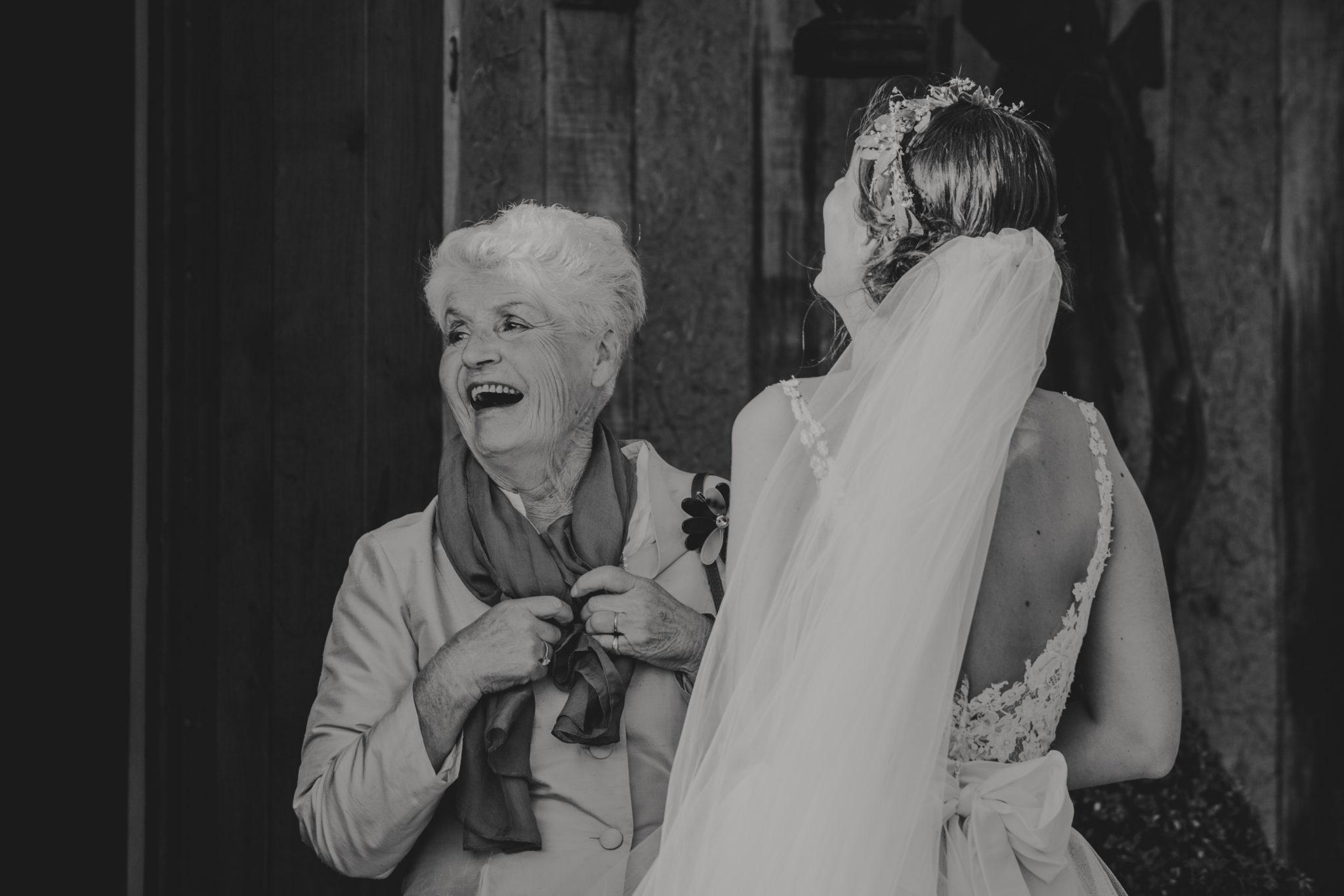 Grand mère mariée Cocktail Pressoir Tourgéville