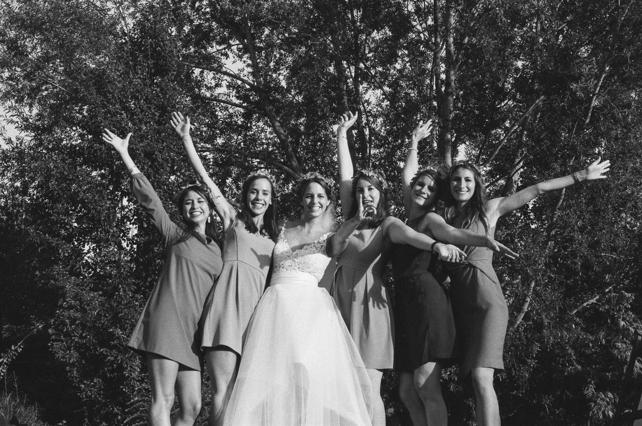 Mariée bridesmaids cocktail Pressoir Tourgéville