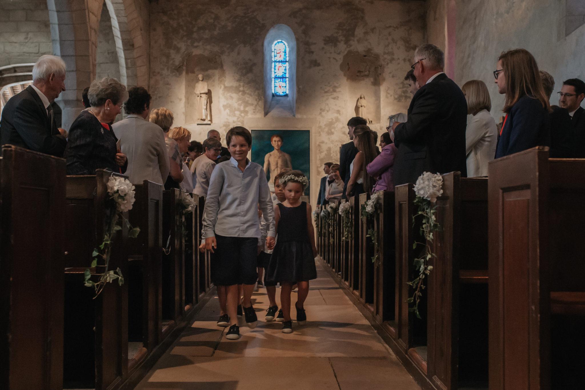 Entrée cortège église Saint Valéry Varengeville sur Mer