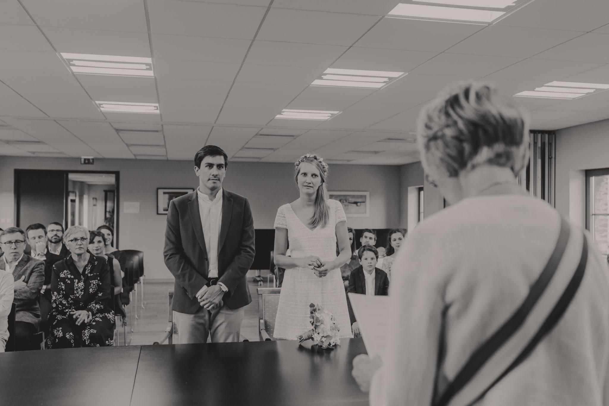Mariés mairie Tôtes mariage civil