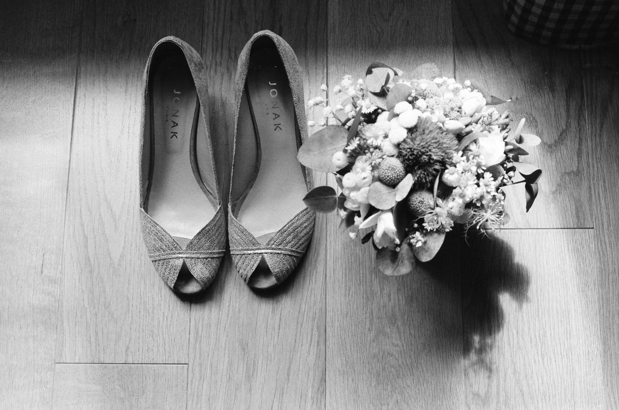 Détail chaussures bouquet Varengeville sur Mer