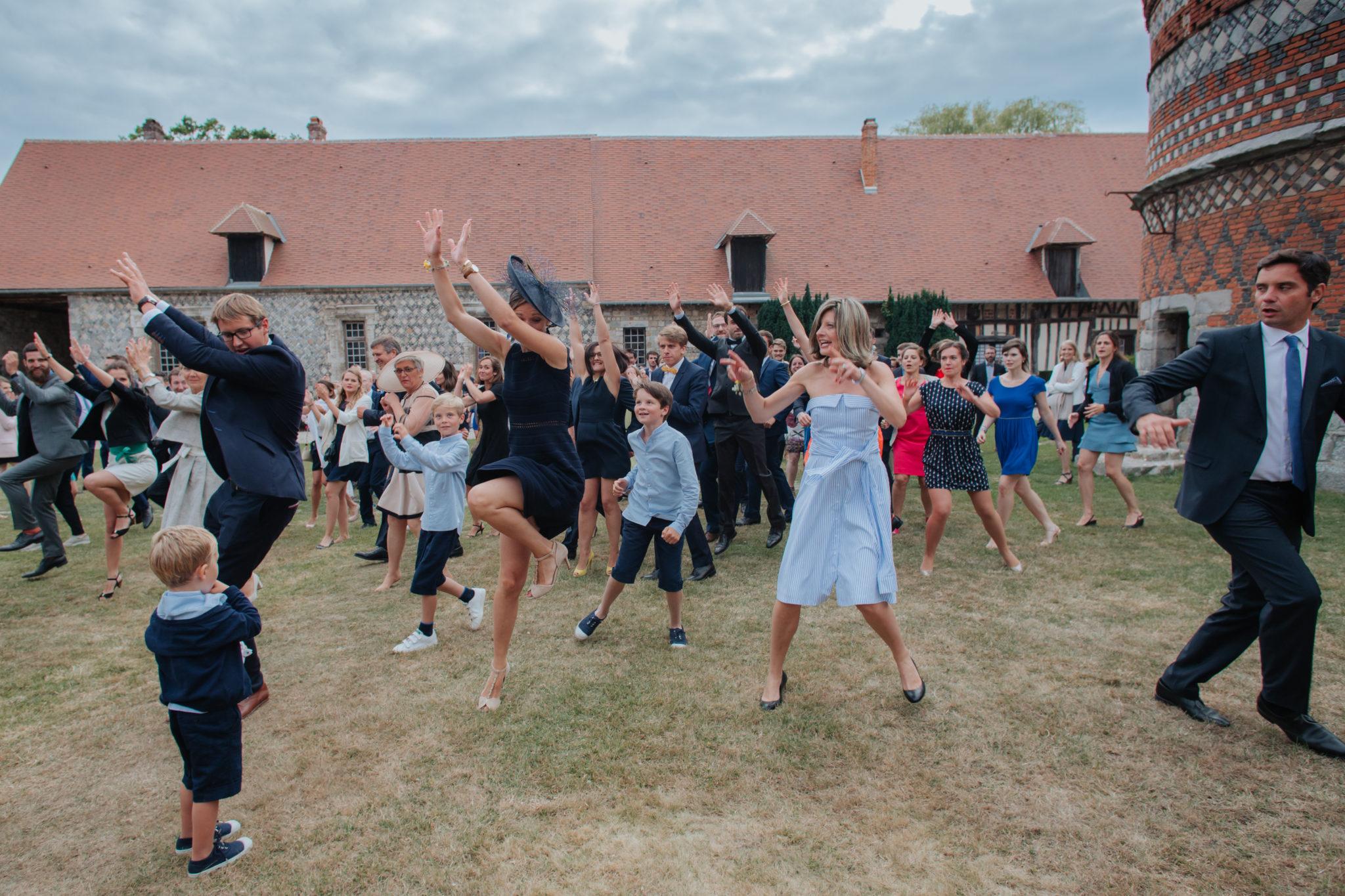 Flashmob danse ambiance cocktail Manoir Ango Varengeville sur Mer