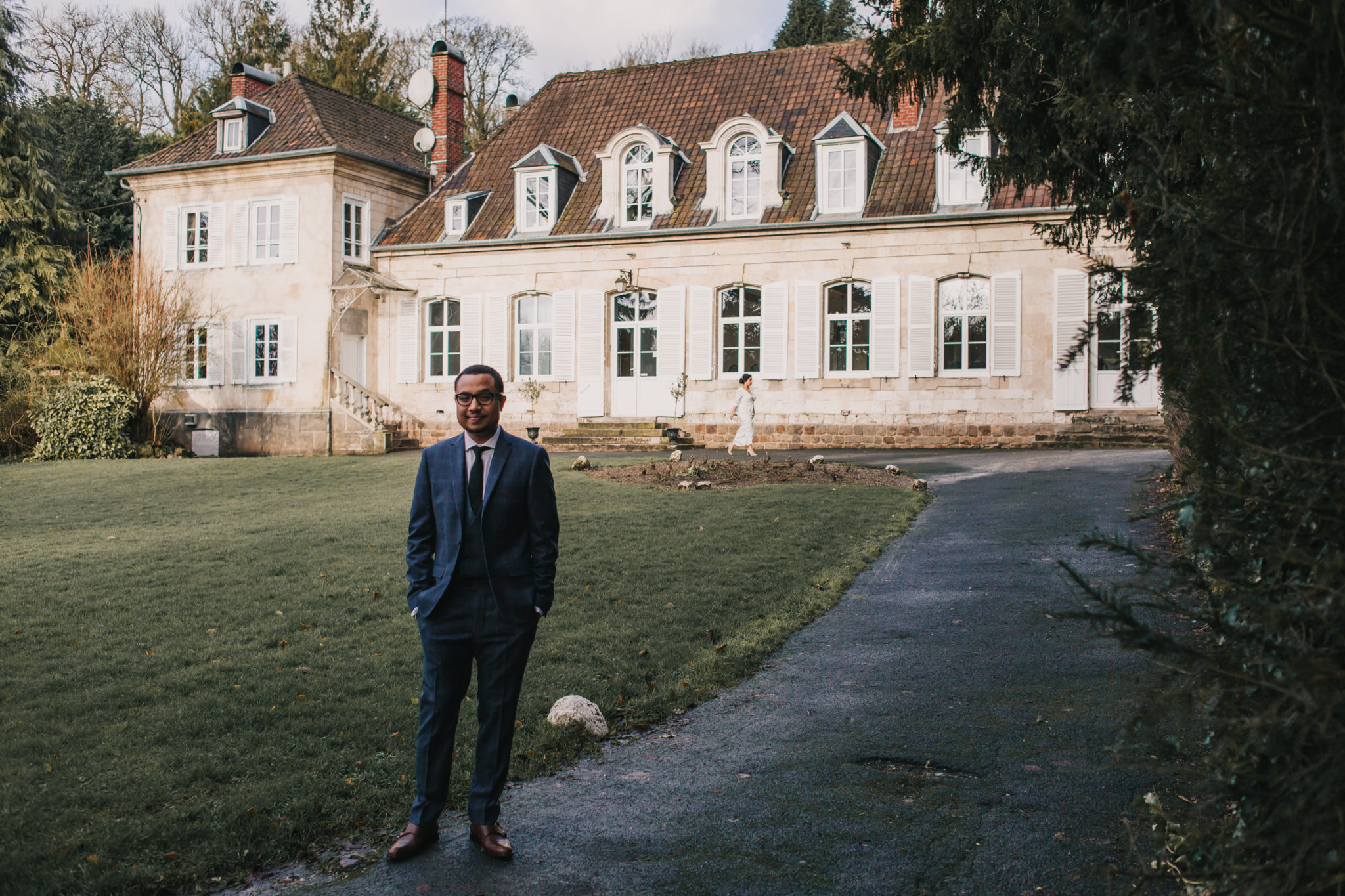 Découverte first look mariage hiver Chateau Naours Picardie Amiens