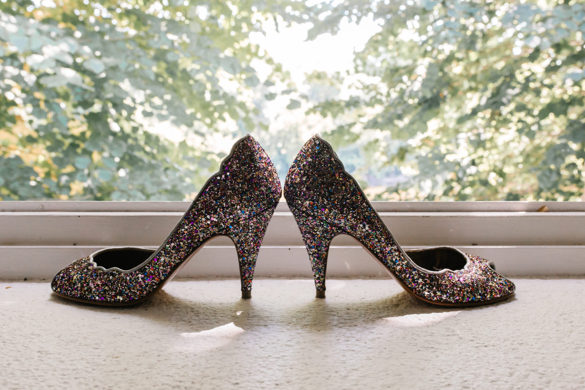Patricia Blanchet Chaussures souliers paillettes glitter Chateau Pirey Dordogne