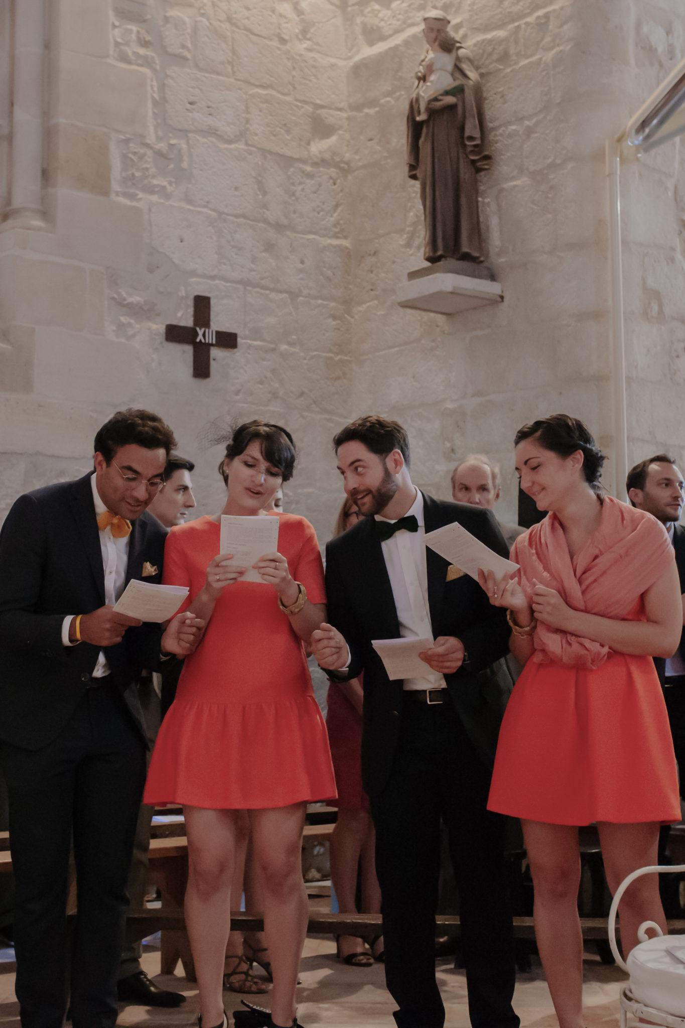Témoins église Pessac sur Dordogne