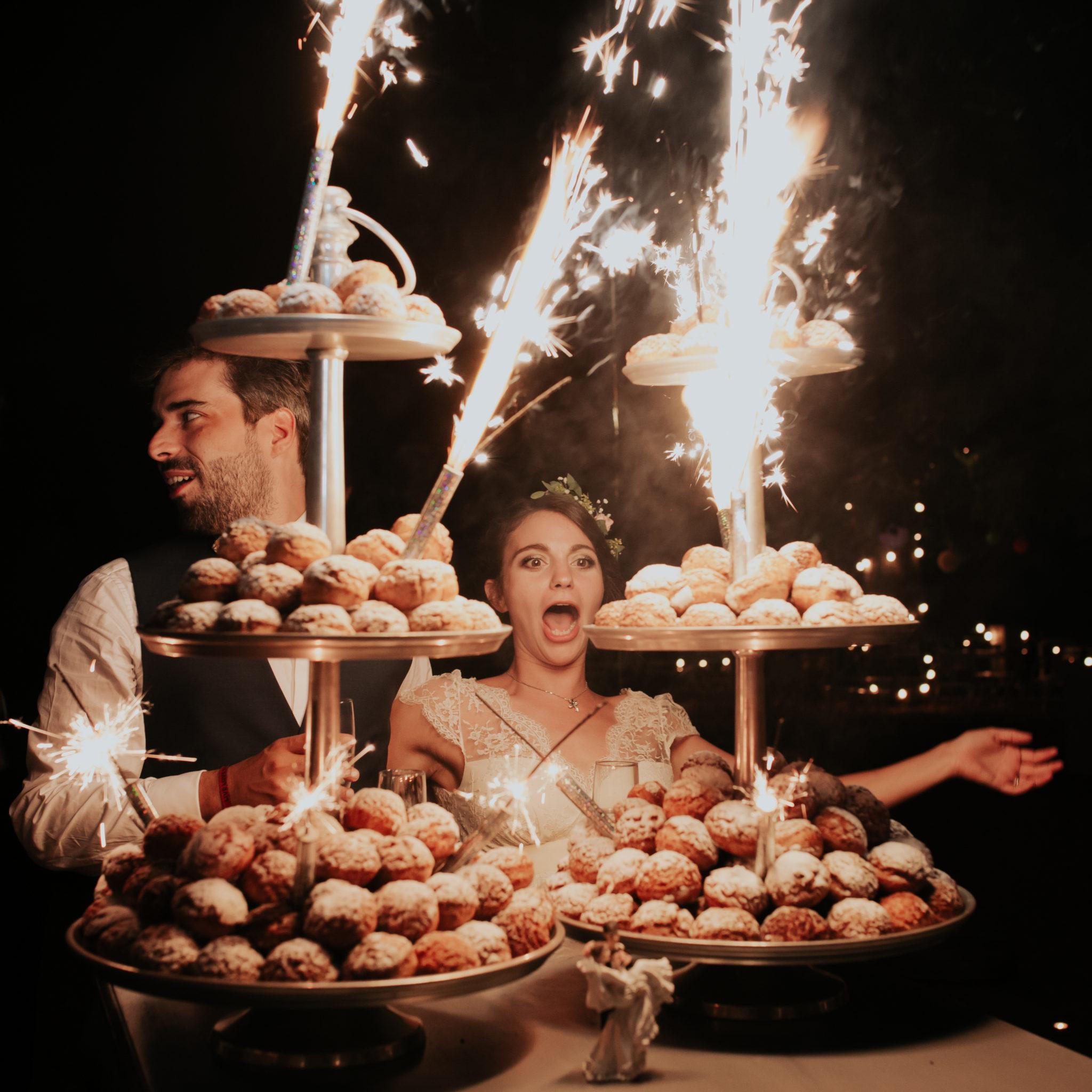 Pièce montée gâteau mariés Chateau de Pirey Dordogne