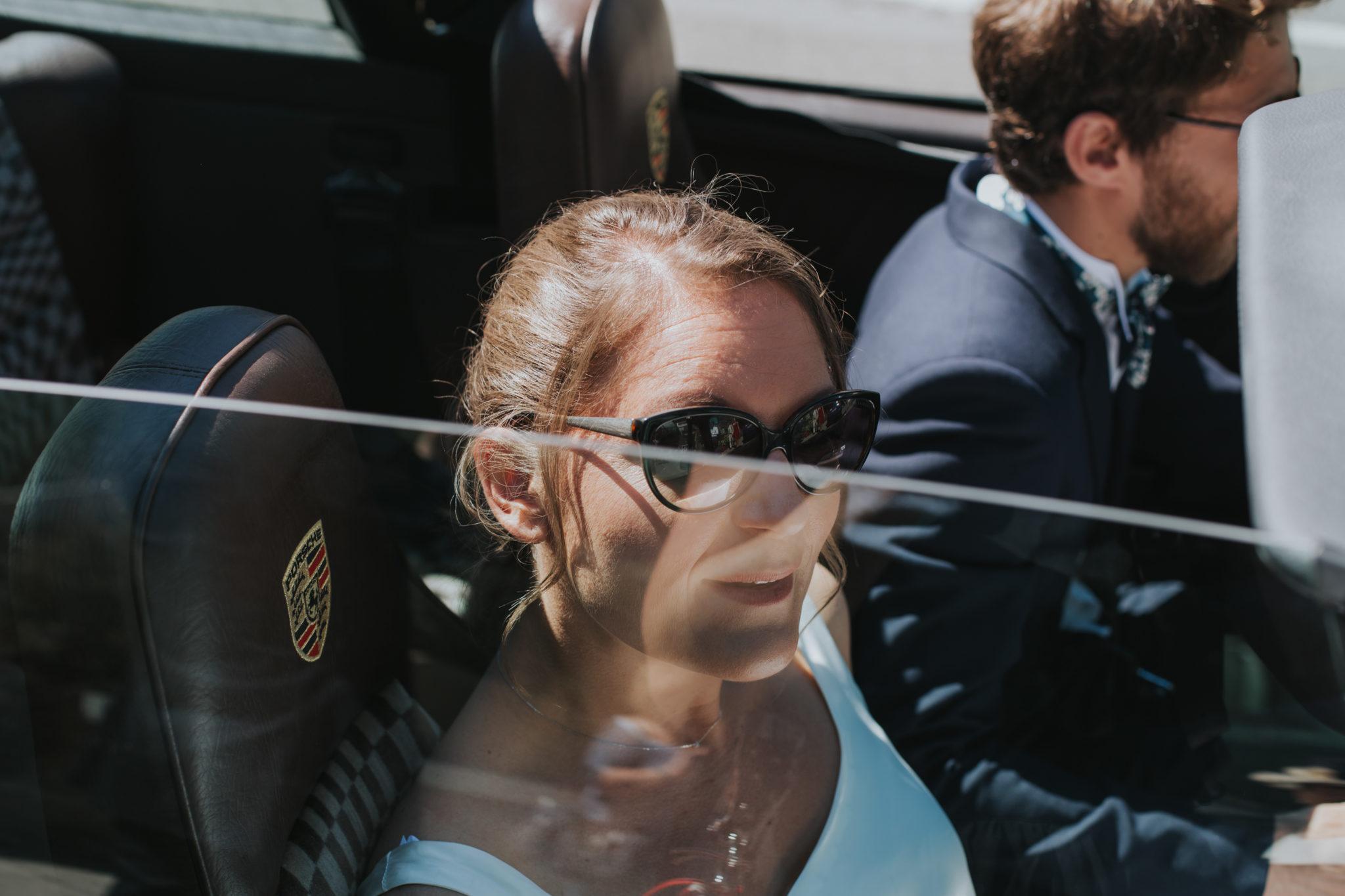 Arrivée mariés Porsche décapotable mairie La Baule Chateau-Saint-Marc St Nazaire Atlantique