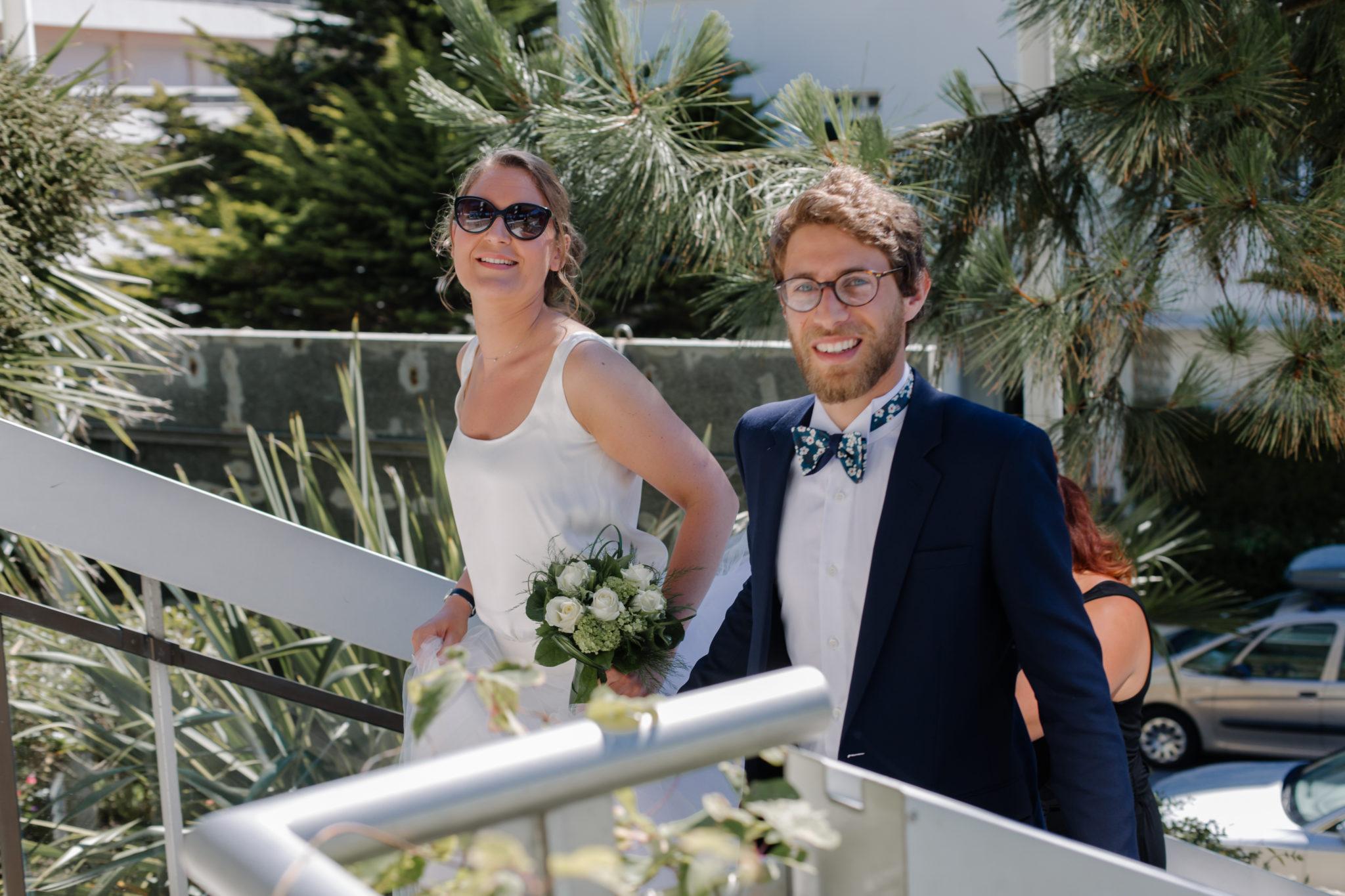Arrivée mariés mairie La Baule Chateau-Saint-Marc St Nazaire Atlantique
