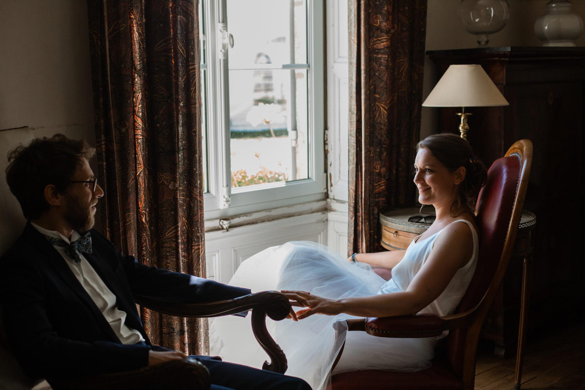 Portraits mariés salon Chateau-Saint-Marc St Nazaire La Baule Atlantique