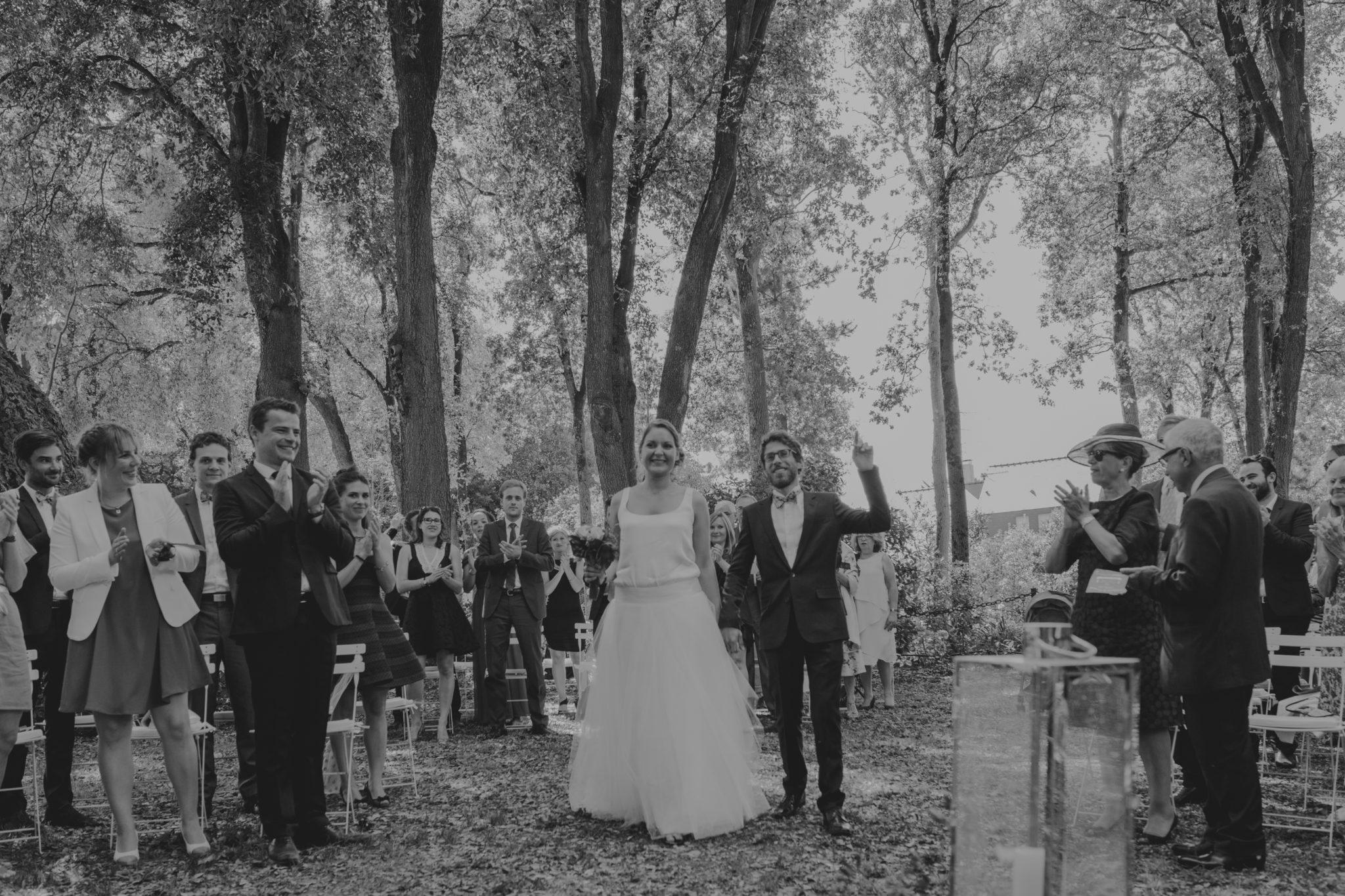 Entrée des mariés cérémonie jardin Chateau-Saint-Marc St Nazaire La Baule Atlantique