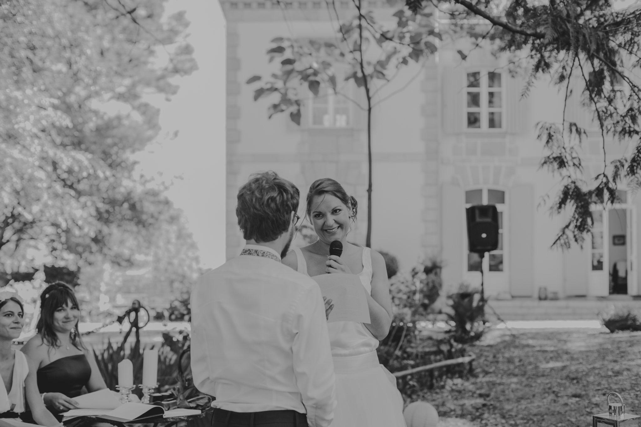 Voeux Mariés cérémonie jardin Chateau-Saint-Marc St Nazaire La Baule Atlantique