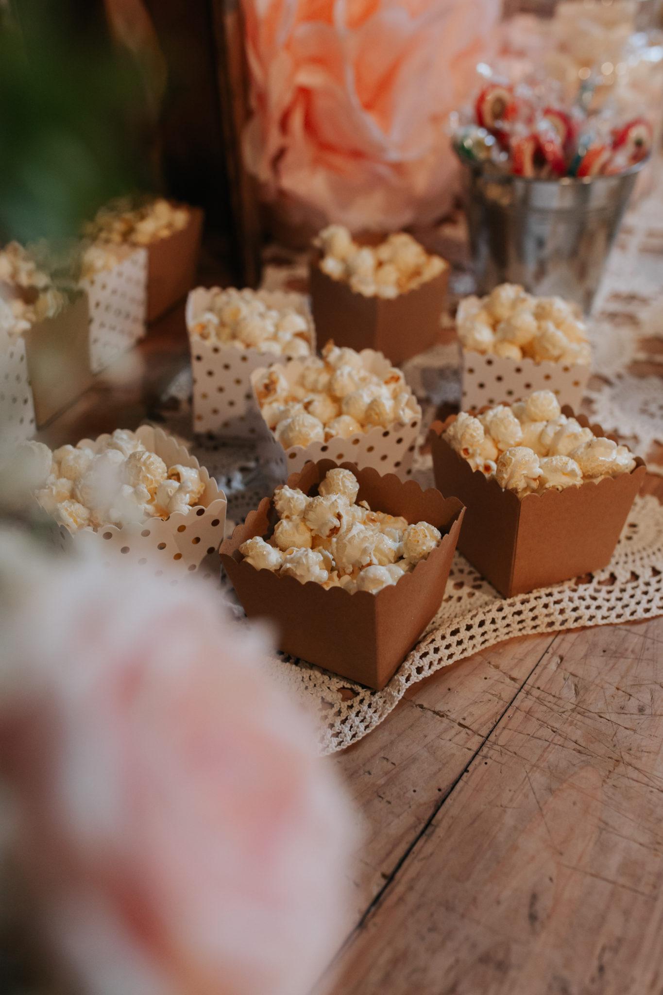 Décoration candy bar pop corn Domaine de l'Ordre des Compagnons du Beaujolais Lacenas