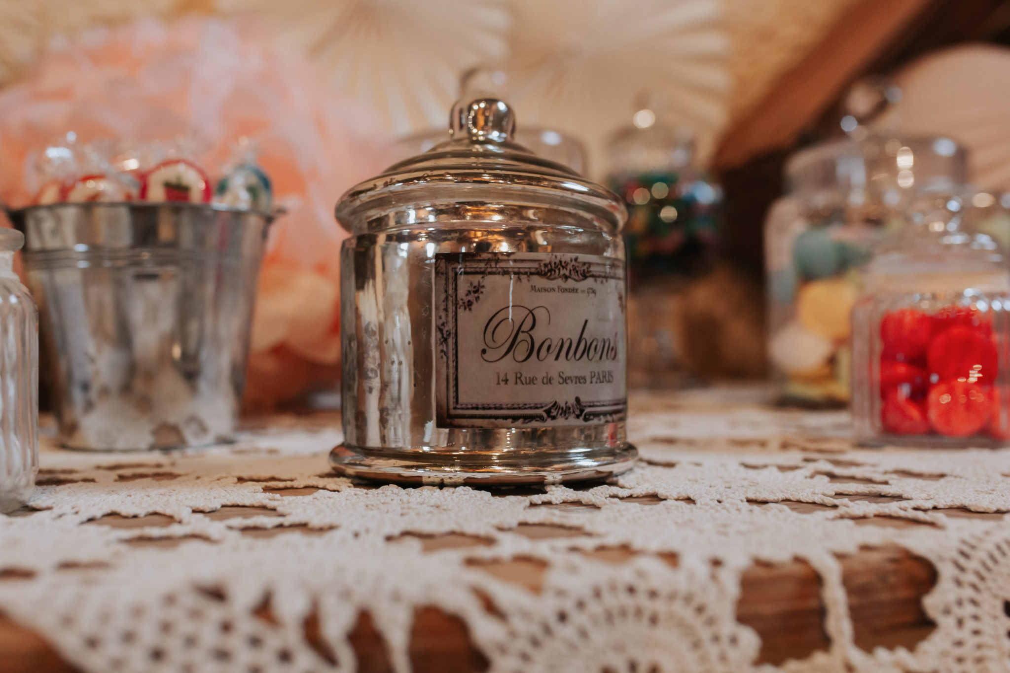 Décoration candy bar Domaine de l'Ordre des Compagnons du Beaujolais Lacenas