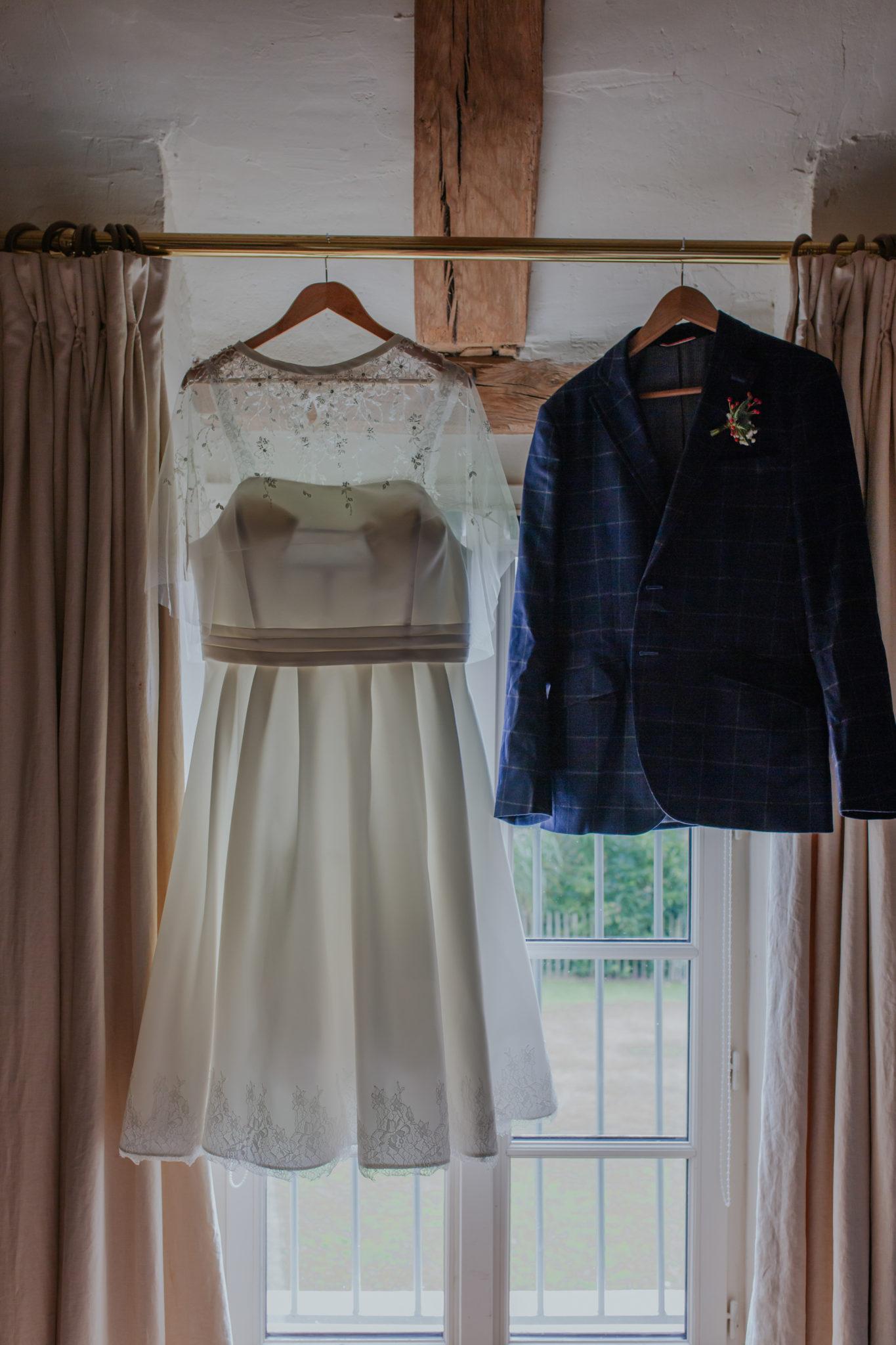 Robes mariée et veste marié Mariage 50s Domaine Mauvoisin Lommoye