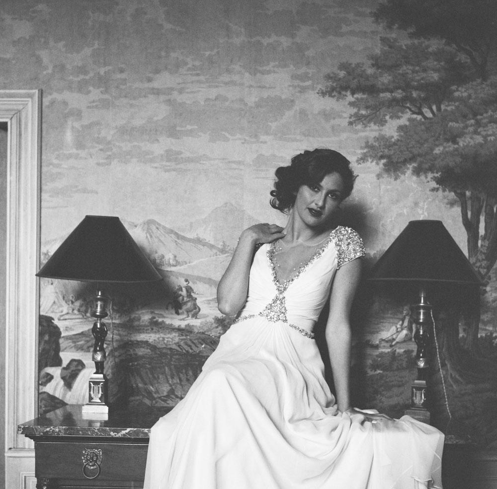 Le Mesnil d'O Le Wedding robe Jenny Packham rolleiflex