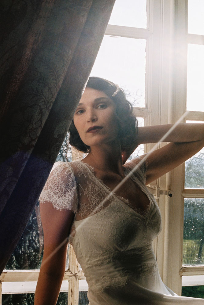 Le Mesnil d'O Le Wedding robe Elsa Gary barette English Garden