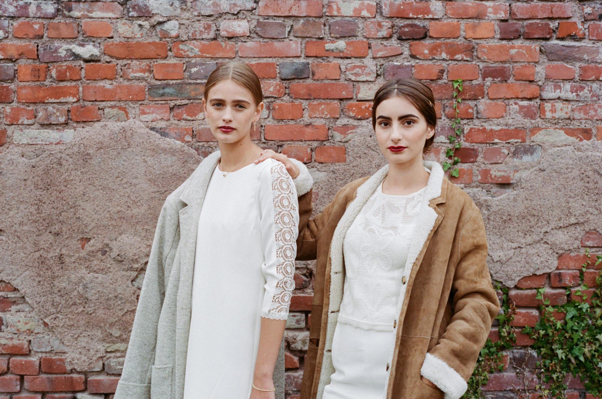 Le Wedding Urban Brides robe et top Claire Joly short Aurélia Hoang manteaux Swildens headband Alizzi CréaNon Presqu'île Caen
