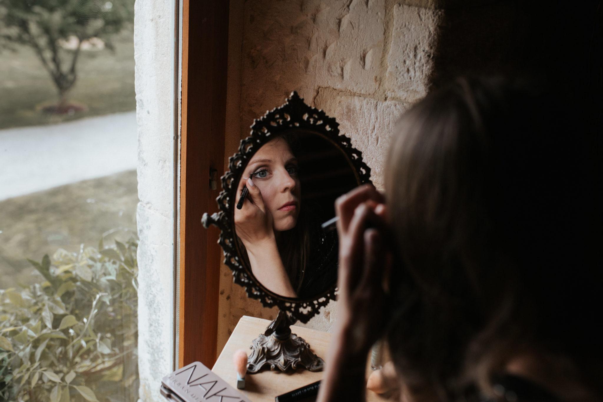 Maquillage mariée Grange d'Espins