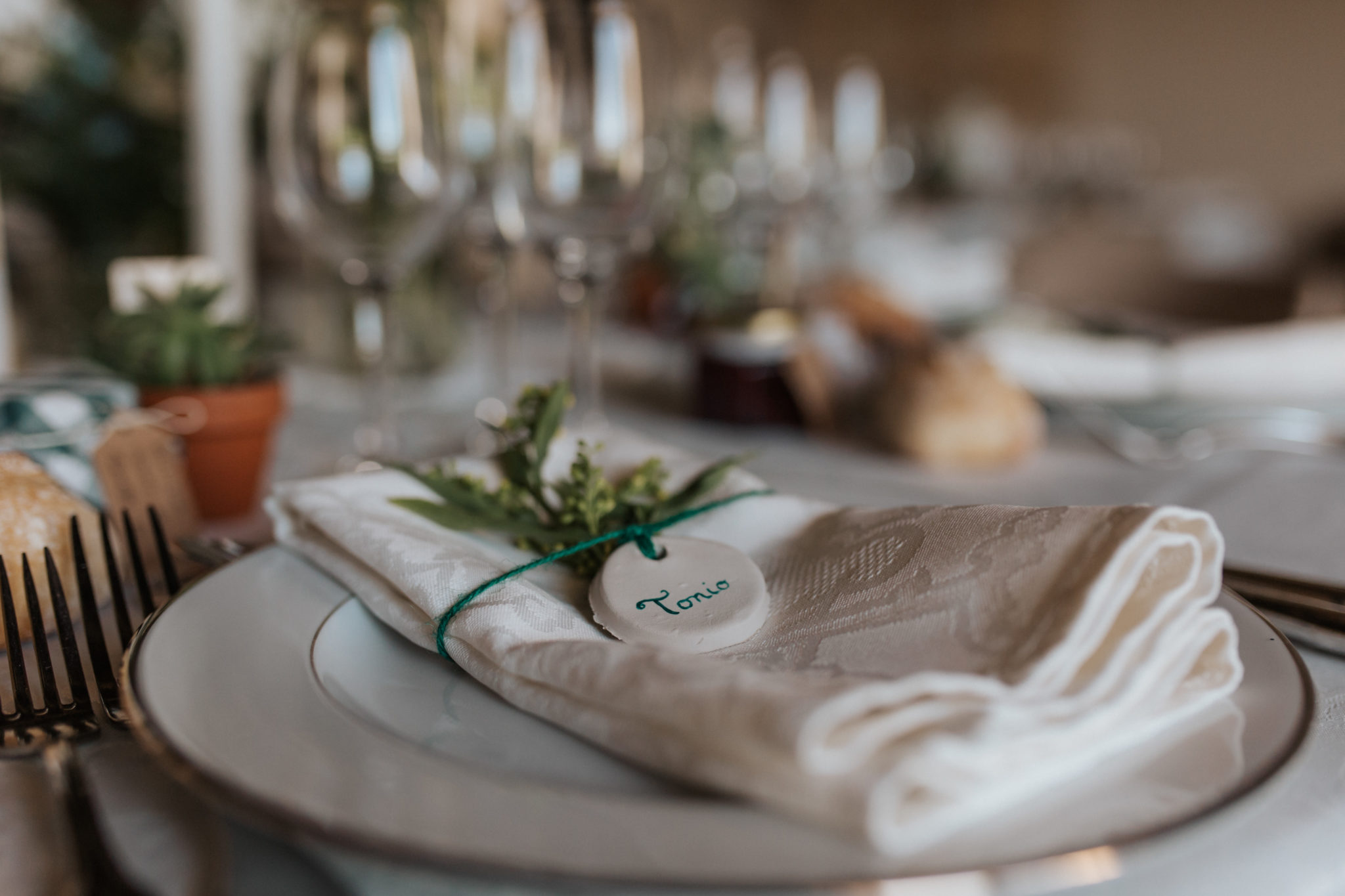 Marque place DIY décoration table Grange d'Espins