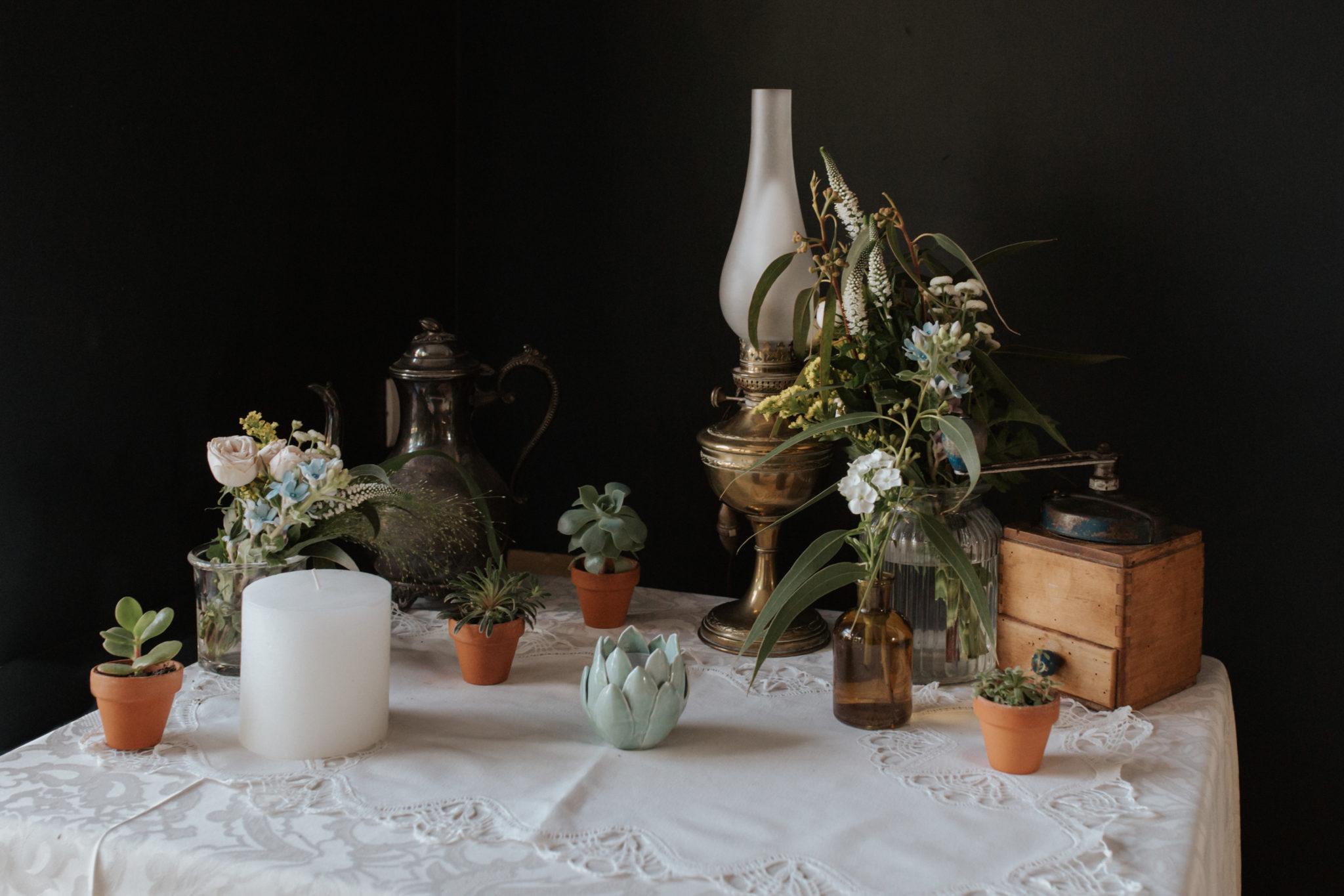 Décoration vintage Kinfolk Grange d'Espins