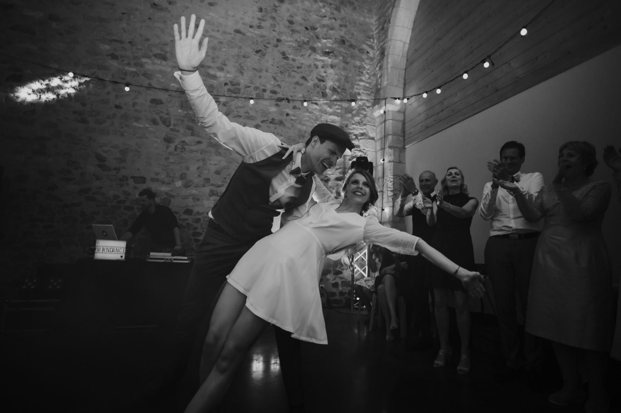 Ouverture bal mariés danse Lindy hop rock soirée Grange d'Espins