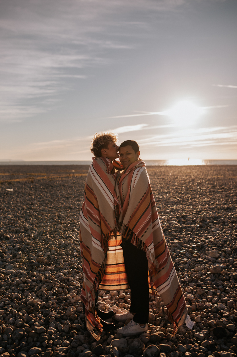 Séance grossesse et couple plage du Havre