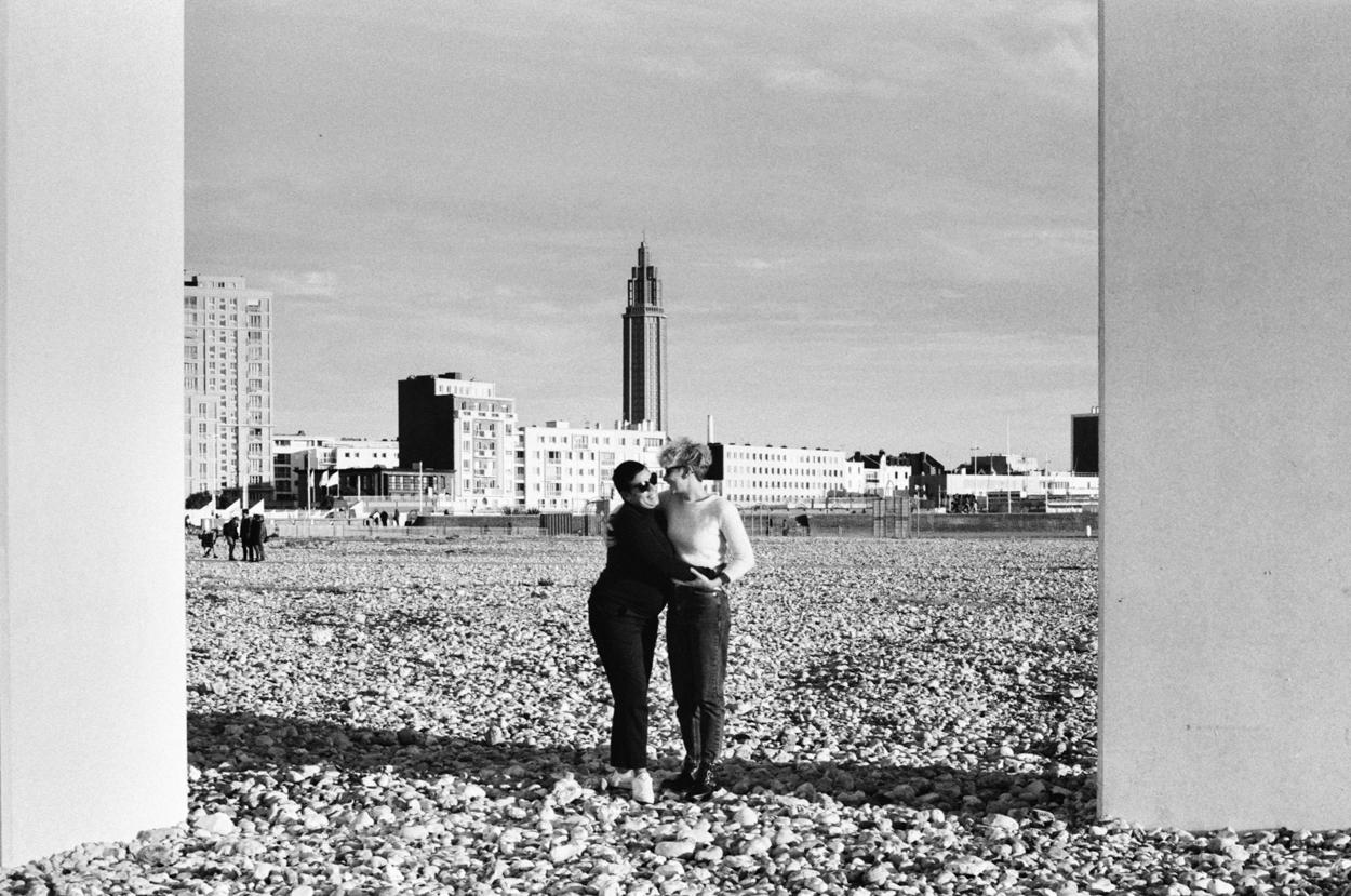 Séance grossesse et couple plage le Havre