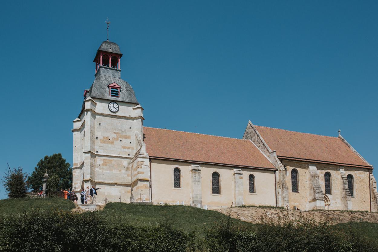 église notre dame estrées pays auge normandie