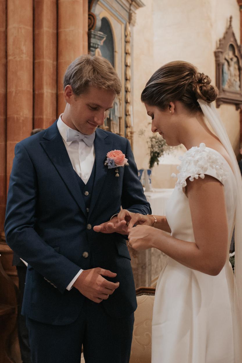échange alliances mariés église notre dame estrées pays auge normandie