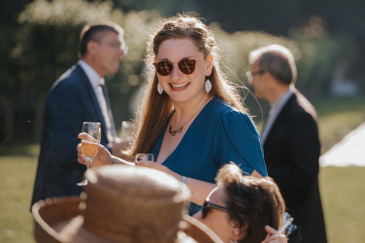 portrait invité cocktail château de Canon pays auge normandie