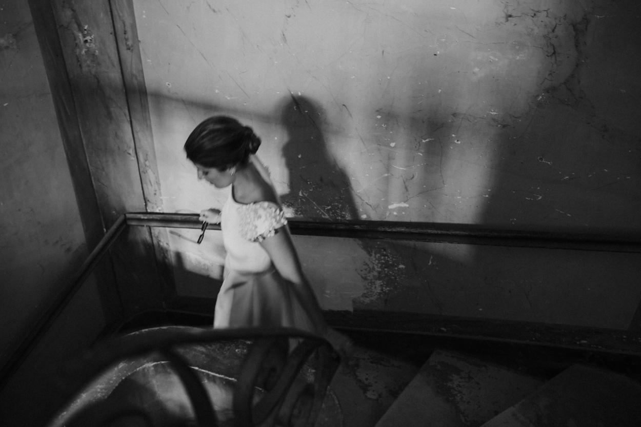 mariée escalier chateau de canon