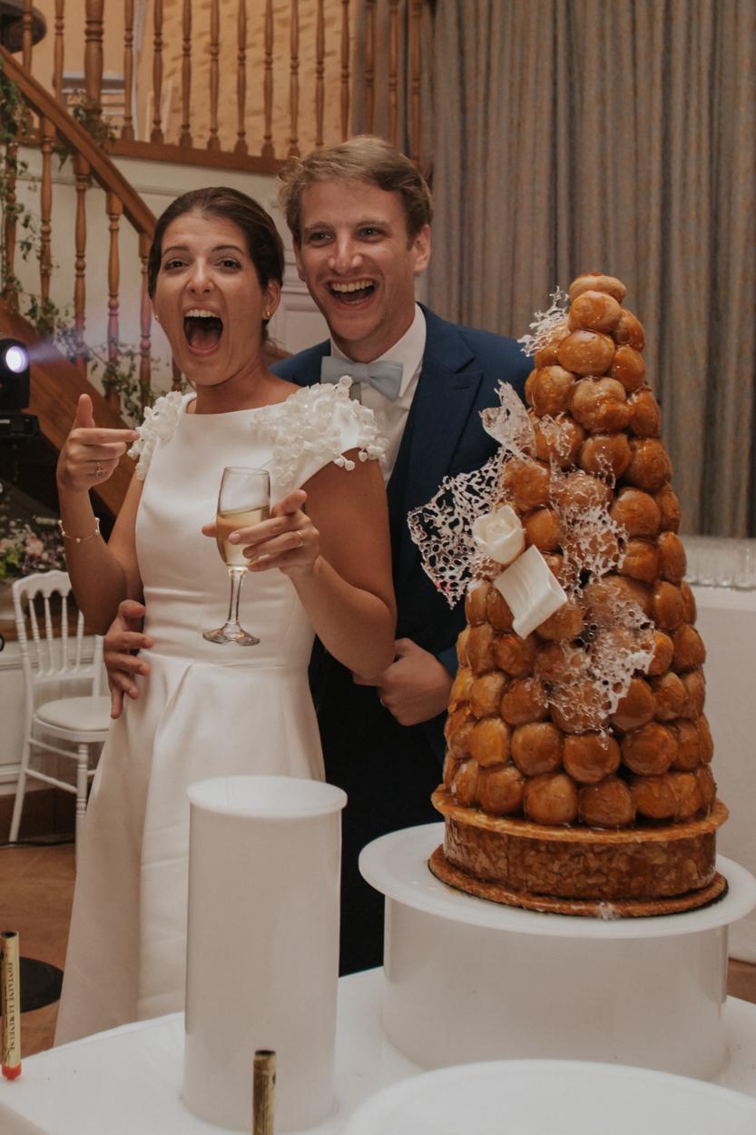 pièce montée choux gâteau soirée mariage château de canon