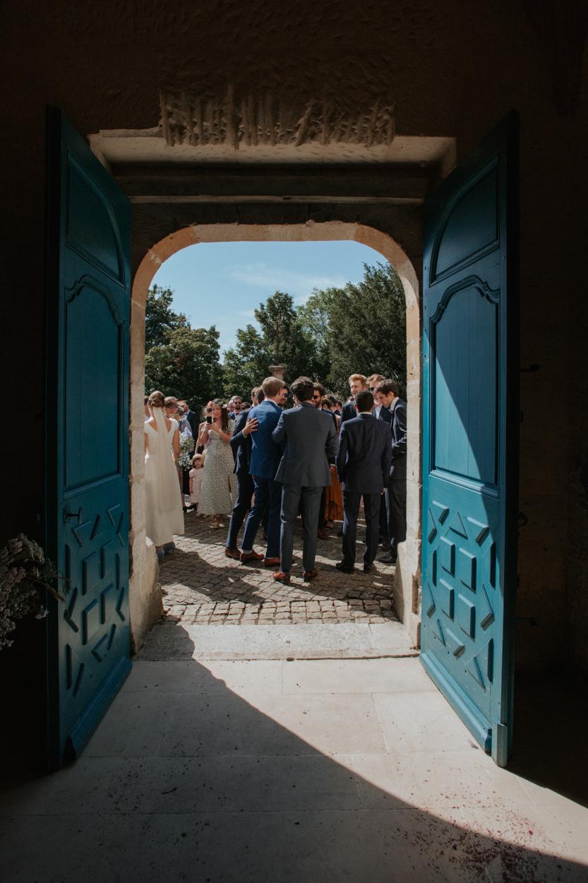 sortie église mariage notre dame estrées paus auge normandie
