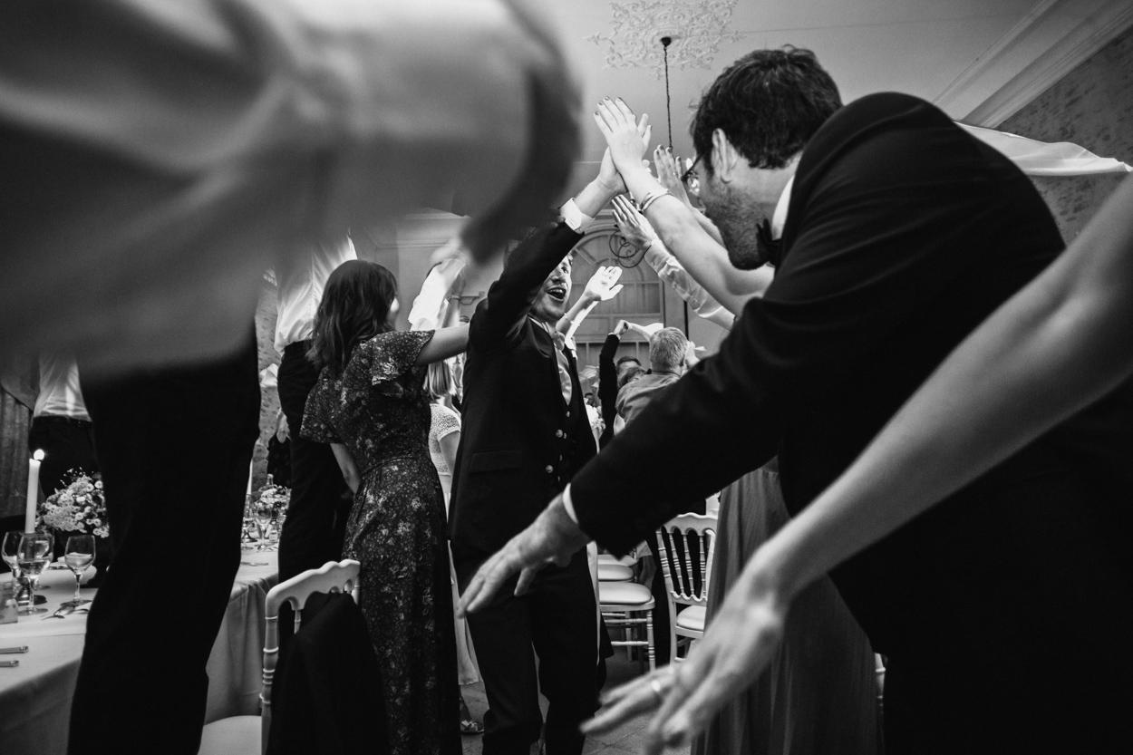 entrée mariés soirée mariage château de canon