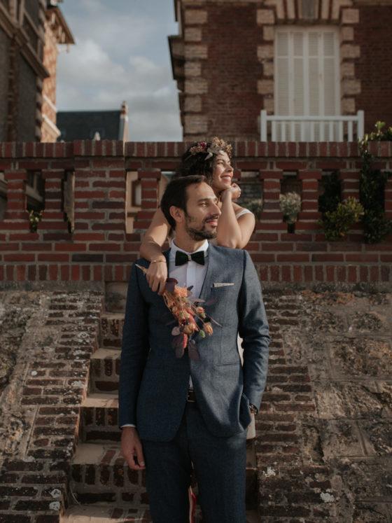 houlgate front de mer villa escalier normandie mariés