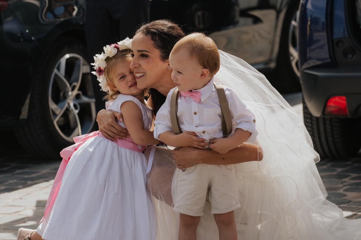 mariée et enfants d'honneur mariage mairie hazebrouck