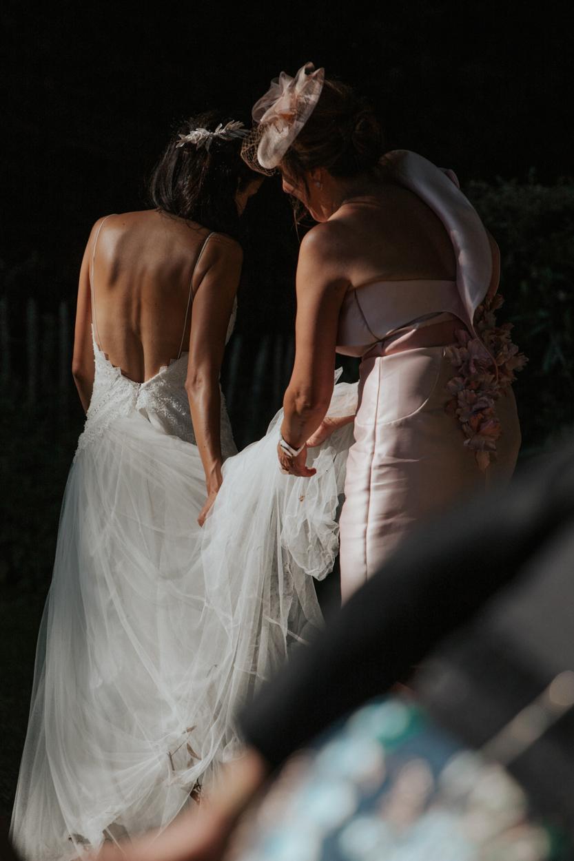 mariée et sa mère