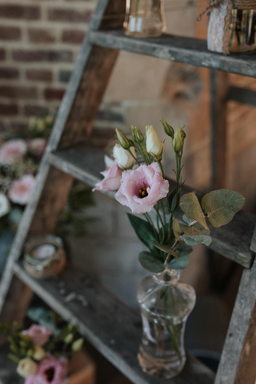 bouquets fleurs décoration salle chateau morbecque
