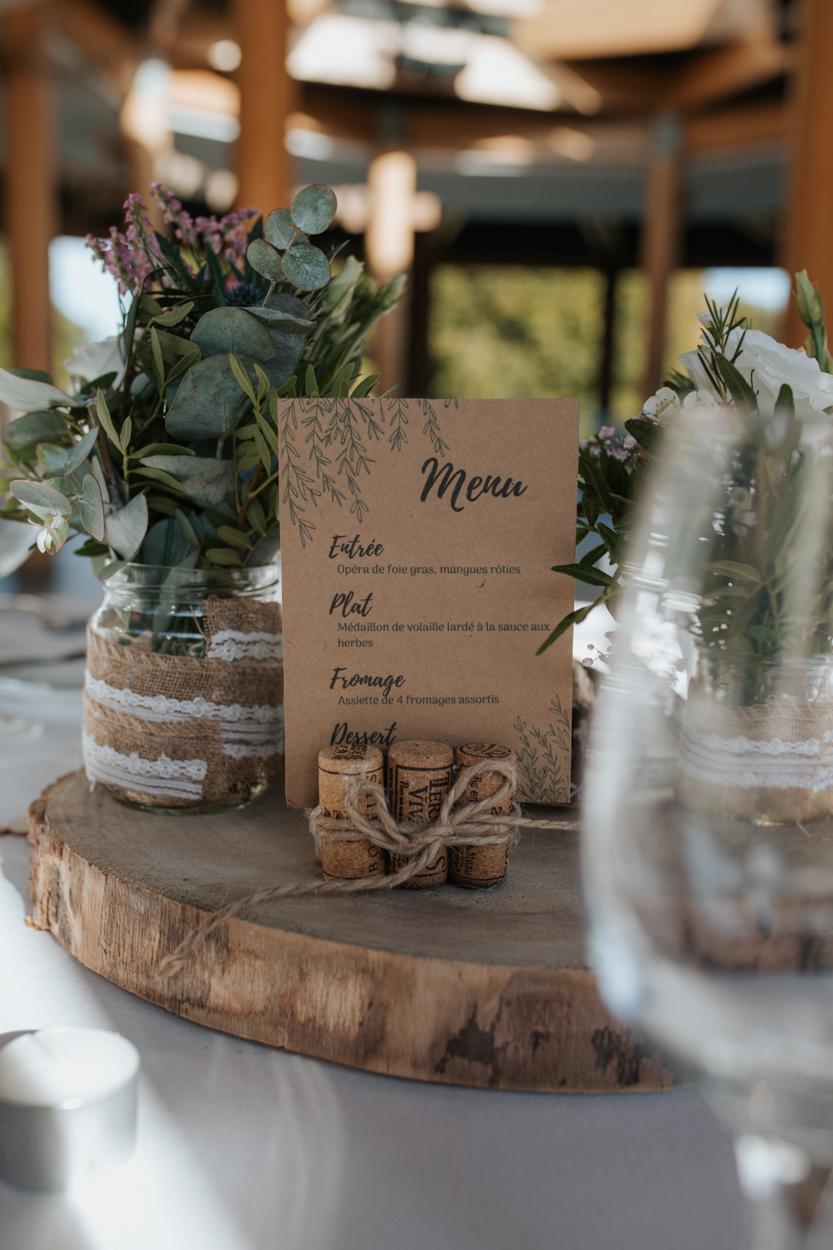 décoration tables mariage franco-mexicain