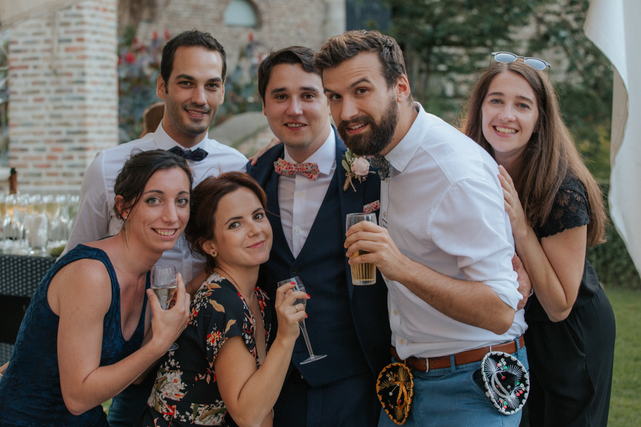 groupe amis cocktail mariage
